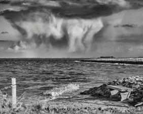 | Halligen | Langeneß | ...beeindruckende Wolkenformationen am Tag vorm Landunter