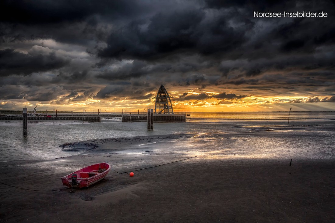| Nordseeinseln | Juist | ...am Hafen bei Sonnenaufgang