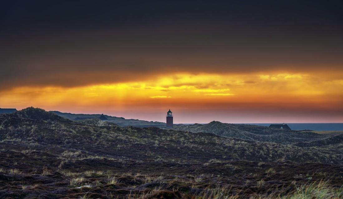 Sylt-Kampen-Quermarkenfeuer 'Rotes Kliff'