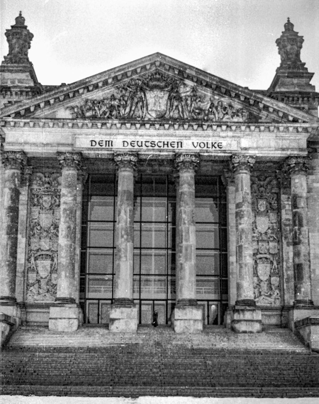 Febr. 1973, das alte Reichstaggebäude, noch ohne Kuppel