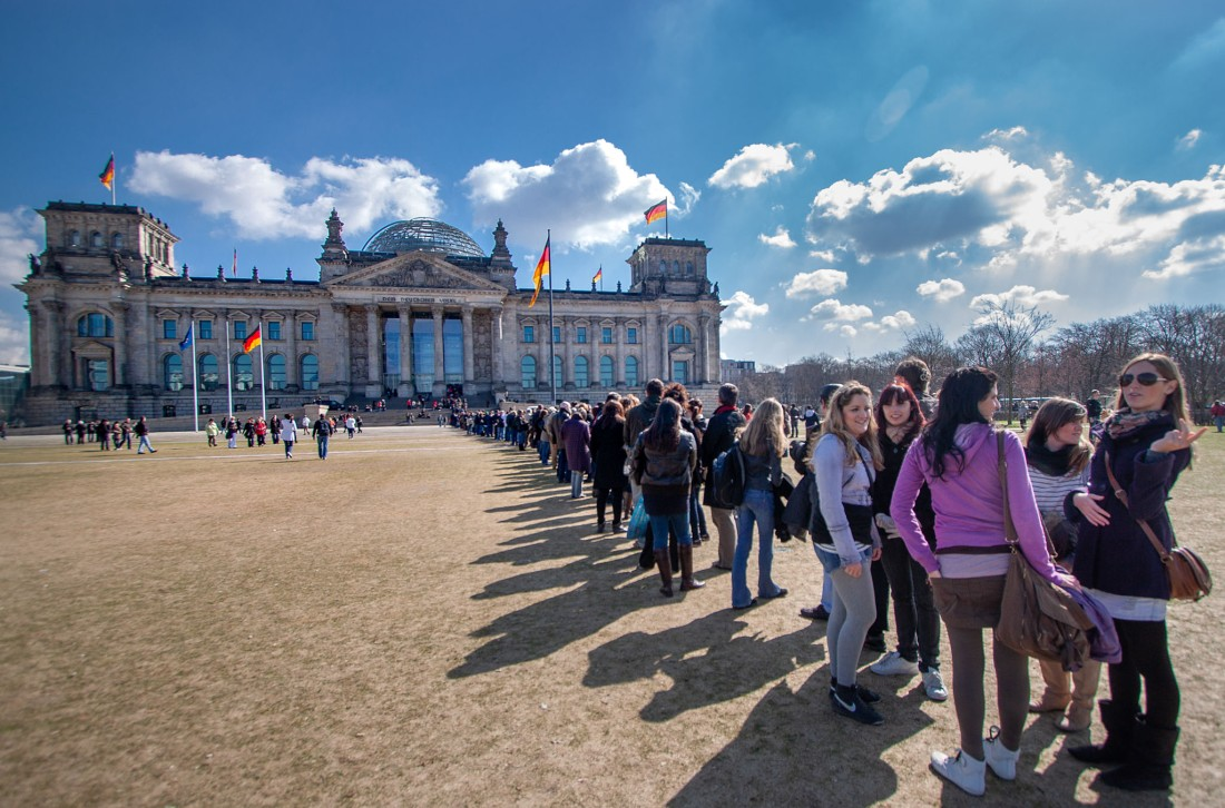 2010, der Reichstag, heißbegehrtes Besichtigungsobjekt